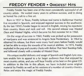 Freddy Fender My Mom Ened To Him Relentlessly Country Stars